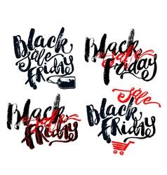 Black Friday sale hand lettering banner vector image
