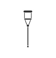 Black icon on white background medical crutch vector