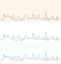 bologna hand drawn skyline vector image