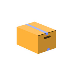 box icon flat design style parcel simple vector image