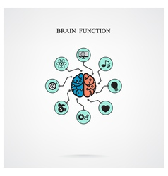 brain function vector image