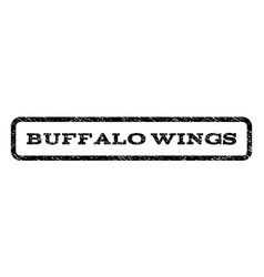 Buffalo wings watermark stamp vector