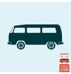 Camper bus icon isolated vector