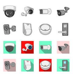 Cctv and camera icon vector