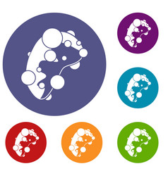 cell virus icons set vector image vector image