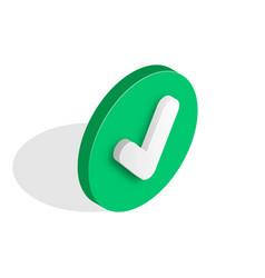 Checkmark isometric icon vector