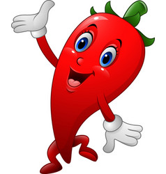 chili cartoon character vector image