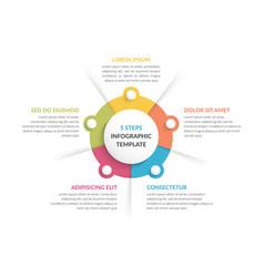 Circle infographics - five elements vector