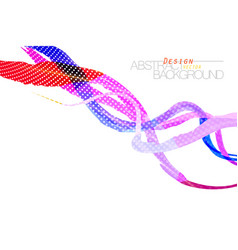 Colorful brush scene on a white vector