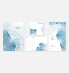 Creative template background set with blue vector