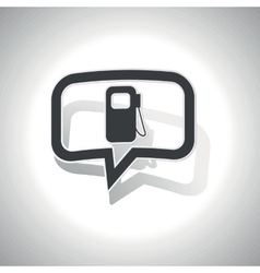 Curved gas station message icon vector