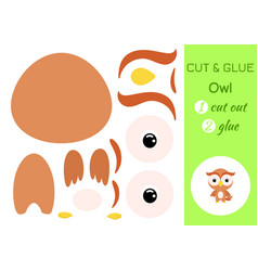 cut and glue baowl education developing vector image
