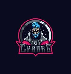 cyborg esport logo vector image