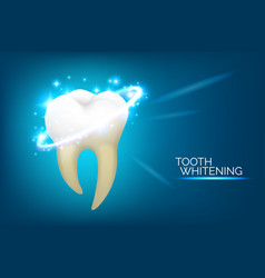 dental care and teeth whitening banner design vector image
