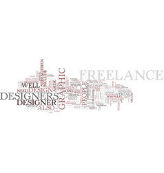 Freelance designer text background word cloud vector