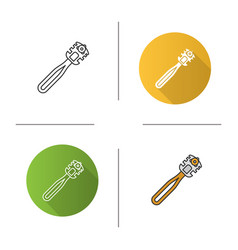 Glass cutter icon vector