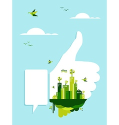 Go green thumb up hand vector