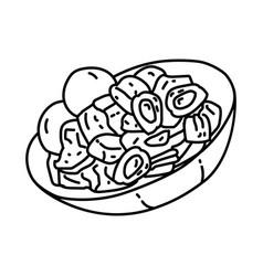 Gudeg jogja icon doodle hand drawn or outline vector