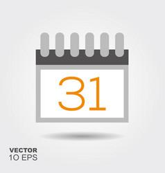 halloween calendar flat silhouette icon vector image