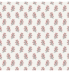 Hand drawn autumn seamless pattern made of berries vector image