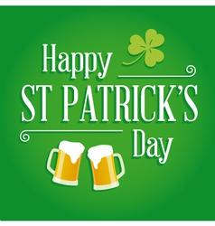 Happy St Patricks day card design elements vector image
