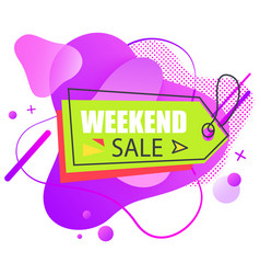 holiday label weekend sale tag retail vector image