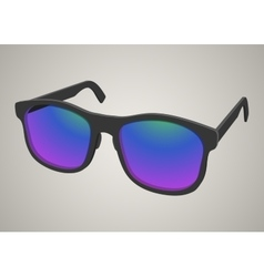 Isolated realistic sunglasses with colored glass vector image
