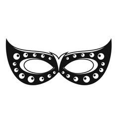 italian carnival mask icon simple style vector image