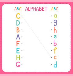 join each capital letter with the lowercase vector image
