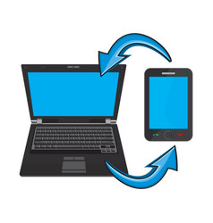 laptop and a smartphone vector image
