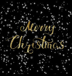 Merry christmas lettering snow 2 vector