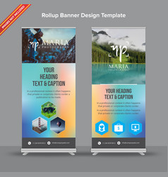 mesh blue and pink rollup banner vector image