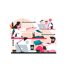 Messenger service in office vector