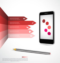 Modern infographics design vector image