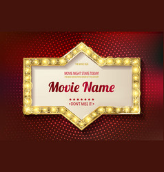 movie time cinema premiere poster design vector image