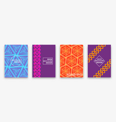 neon gradients trendy backgrounds with impossible vector image