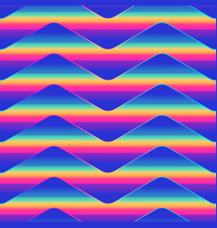 neon wave pattern vector image