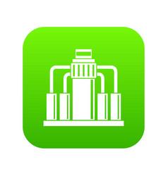 oil refining icon digital green vector image