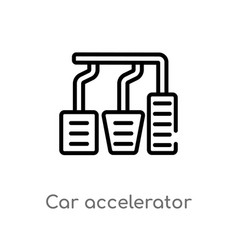 Outline car accelerator icon isolated black vector