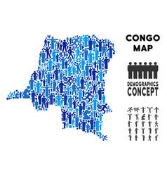 People democratic republic congo map vector