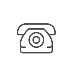 phone line icon vector image
