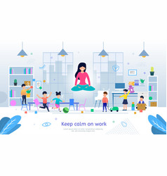 positive thinking on stressful work banner vector image