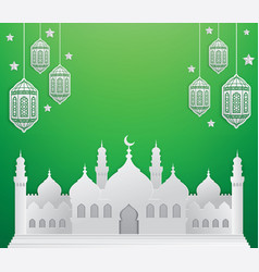 Ramadan background with mosque vector