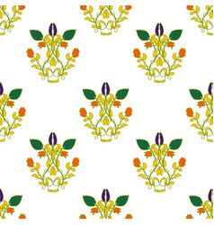 seamless pattern floral vector image