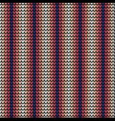 seamless violet vertical knitting pattern vector image