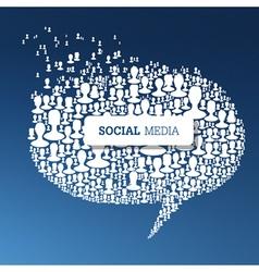 Social concept bubble vector