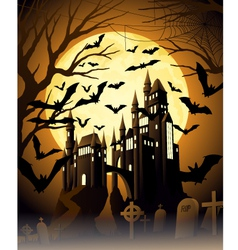 Spooky halloween night vector