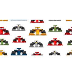 Sport car seamless pattern modern racing cars vector