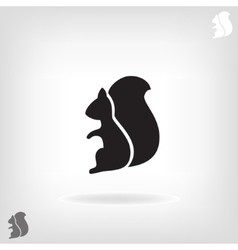 Squirrel isolated on a white backgrounds vector image