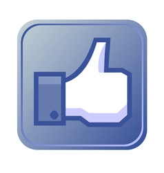 Thumb up button vector image